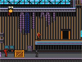 In game image of Rocketeer on the Nintendo NES.