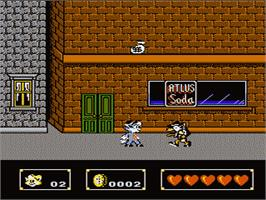 In game image of Rockin' Kats on the Nintendo NES.