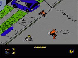 In game image of Rollerblade Racer on the Nintendo NES.