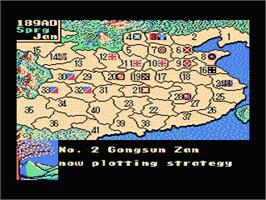 In game image of Romance of the Three Kingdoms 2 on the Nintendo NES.