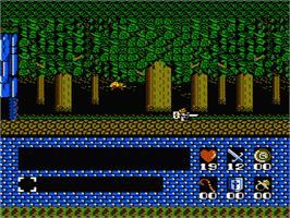 In game image of Romancia: Dragon Slayer Jr. on the Nintendo NES.