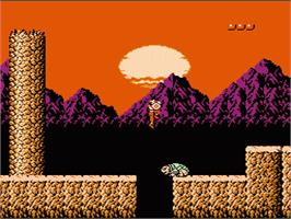 In game image of Rygar on the Nintendo NES.