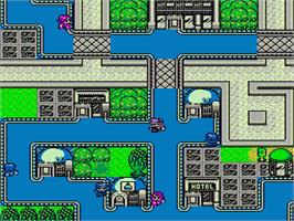 In game image of STED: Iseki Wakusei no Yabou on the Nintendo NES.