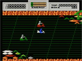 In game image of Seicross on the Nintendo NES.