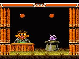 In game image of Sesame Street 1 2 3 on the Nintendo NES.
