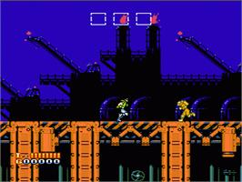 In game image of Shatterhand on the Nintendo NES.