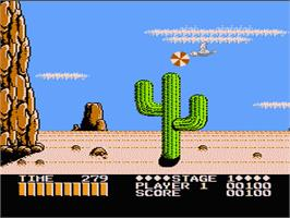 In game image of Shooting Range on the Nintendo NES.