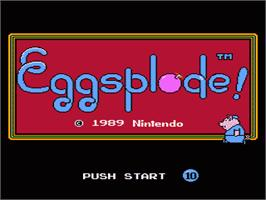 In game image of Short Order & Eggsplode on the Nintendo NES.
