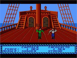 In game image of Sid Meier's Pirates on the Nintendo NES.