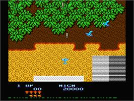 In game image of Sky Shark on the Nintendo NES.