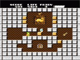 In game image of Solomon's Key on the Nintendo NES.