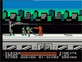 In game image of Spartan X 2 on the Nintendo NES.