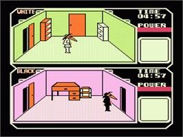 In game image of Spy vs. Spy on the Nintendo NES.
