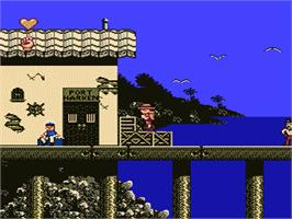 In game image of Stanley: The Search for Dr. Livingston on the Nintendo NES.