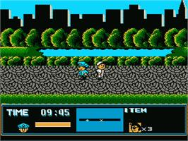 In game image of Street Cop on the Nintendo NES.