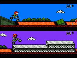 In game image of Stunt Kids on the Nintendo NES.