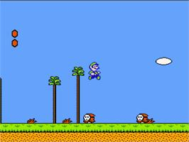 In game image of Super Mario Bros. 2 on the Nintendo NES.