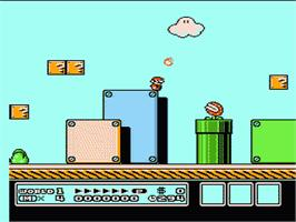 In game image of Super Mario Bros. 3 on the Nintendo NES.