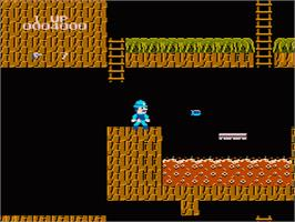 In game image of Super Pitfall on the Nintendo NES.