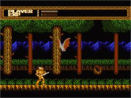 In game image of Sword Master on the Nintendo NES.