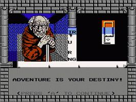 In game image of Swords and Serpents on the Nintendo NES.