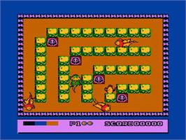In game image of Tagin' Dragon on the Nintendo NES.