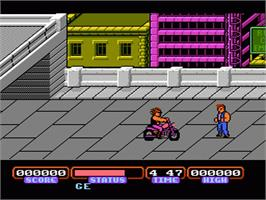 In game image of Target Renegade on the Nintendo NES.