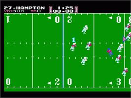 In game image of Tecmo Bowl on the Nintendo NES.