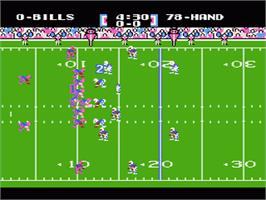 In game image of Tecmo Super Bowl on the Nintendo NES.