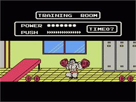 In game image of Tecmo World Wrestling on the Nintendo NES.