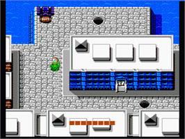 In game image of Teenage Mutant Ninja Turtles on the Nintendo NES.
