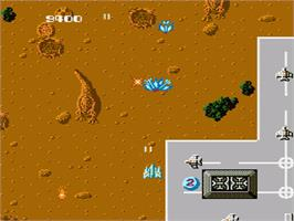 In game image of Terra Cresta on the Nintendo NES.