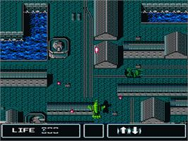 In game image of Thunderbirds on the Nintendo NES.