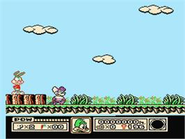 In game image of Tiny Toon Adventures on the Nintendo NES.
