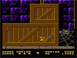 In game image of Tom & Jerry: The Ultimate Game of Cat and Mouse on the Nintendo NES.