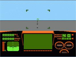 In game image of Top Gun: The Second Mission on the Nintendo NES.