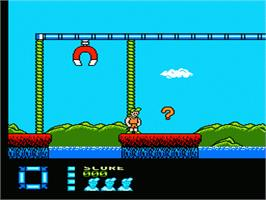 In game image of Treasure Master on the Nintendo NES.
