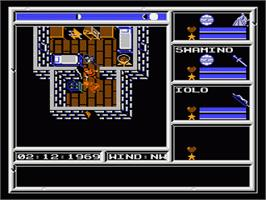 In game image of Ultima V: Warriors of Destiny on the Nintendo NES.