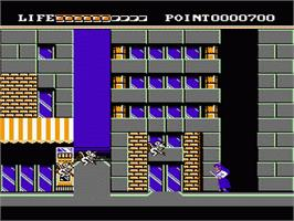 In game image of Valis: The Fantasm Soldier on the Nintendo NES.