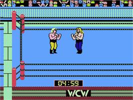In game image of WCW: World Championship Wrestling on the Nintendo NES.
