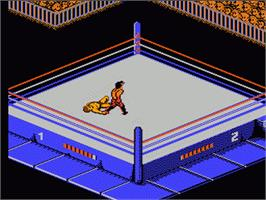 In game image of WWF Wrestlemania Challenge on the Nintendo NES.