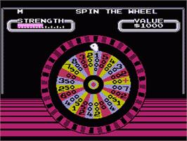 In game image of Wheel Of Fortune on the Nintendo NES.