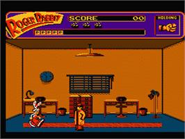 In game image of Who Framed Roger Rabbit? on the Nintendo NES.