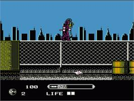 In game image of Wrath of the Black Manta on the Nintendo NES.