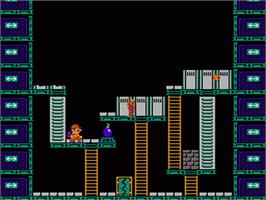 In game image of Wrecking Crew on the Nintendo NES.