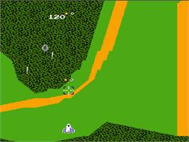 In game image of Xevious on the Nintendo NES.