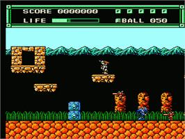 In game image of Xexyz on the Nintendo NES.