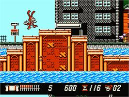 In game image of Yo! Noid on the Nintendo NES.