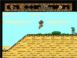 In game image of Young Indiana Jones Chronicles on the Nintendo NES.