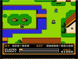 In game image of Ys on the Nintendo NES.